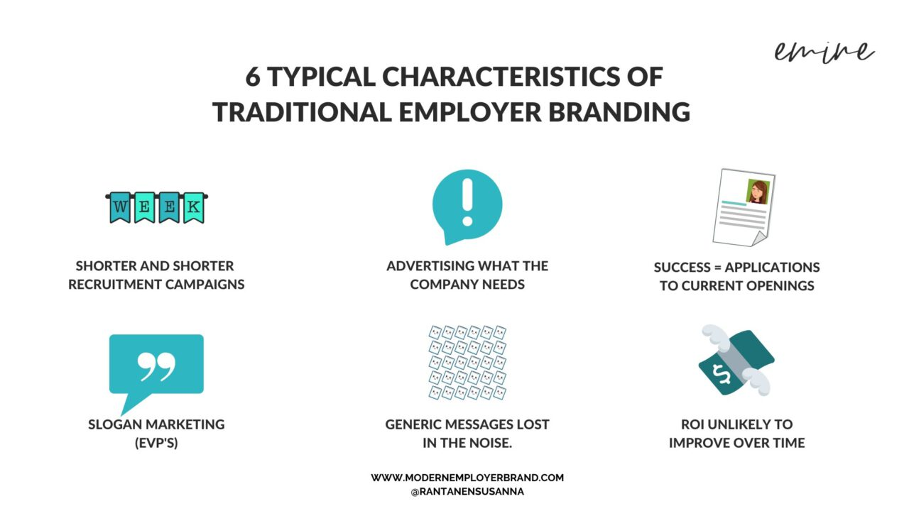 6 characteristics of traditional employer branding the modern employer brand blog rantanensusanna