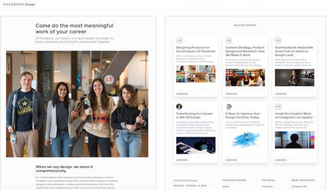 FB design career site screenshots 03102020