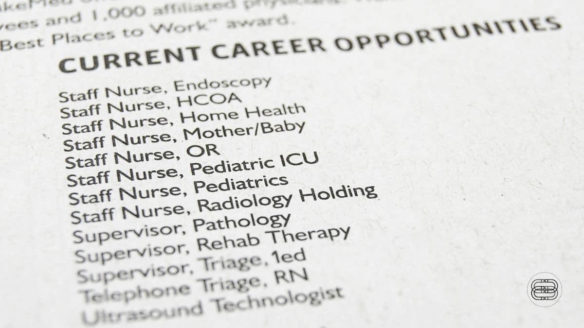open job listing example