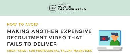 Recruitment video cheat sheet for talent marketing pro pdf