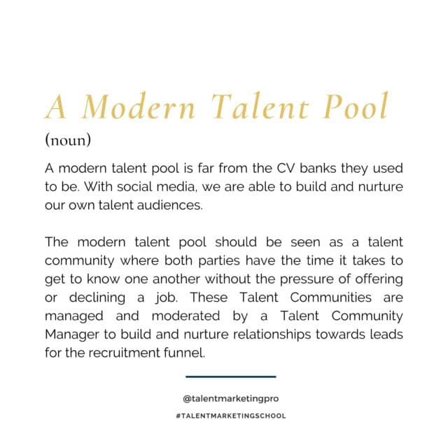 A modern talent pool explained