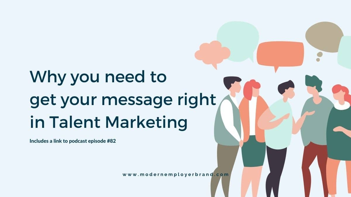 Getting your message right in talent marketing blog post header