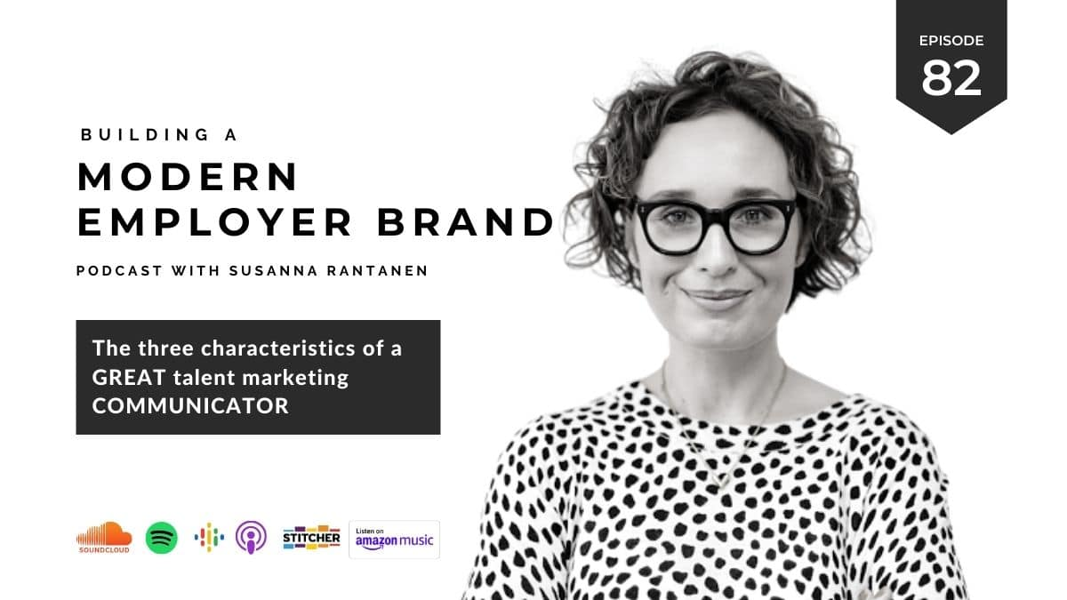 Building a Modern Employer brand Podcast episode cover #81 Working as a Creative Employer Brand Content Producer (series 6/6)